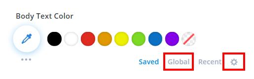 nueva opción y configuración de colores globales