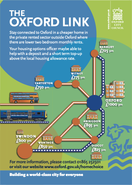 Oxford City Council leaflet explaining the Oxford Link