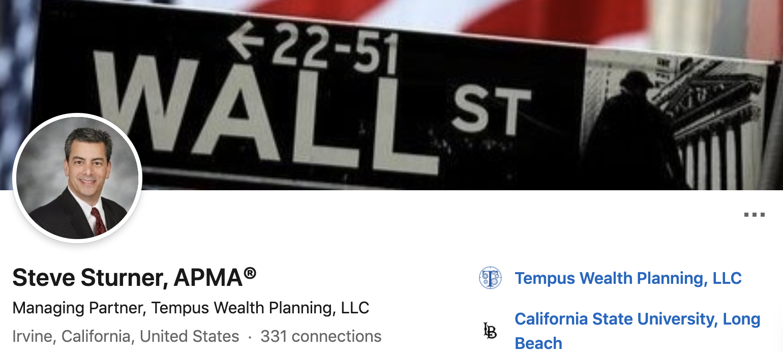Steve Sturner   Social Media Banner   Investment Advisor