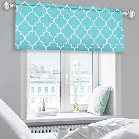 Print Valance Curtains Bedroom Ideas