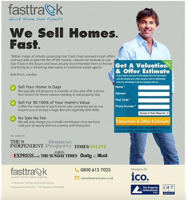 Ví dụ về Fastrack sử dụng điểm thú vị để tăng chuyển đổi trên trang đích của họ