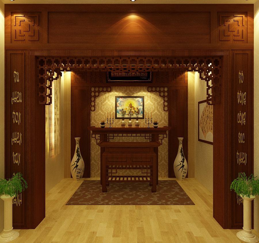 Cảm nhận không gian thiêng liêng của phòng thờ