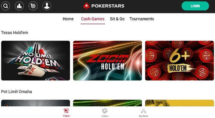 Мобильная версия Покерстарс