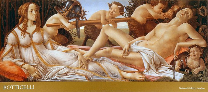 "Botticelli, ""Mars and Venus"", 1483"