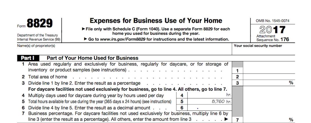 IRS Form 8829
