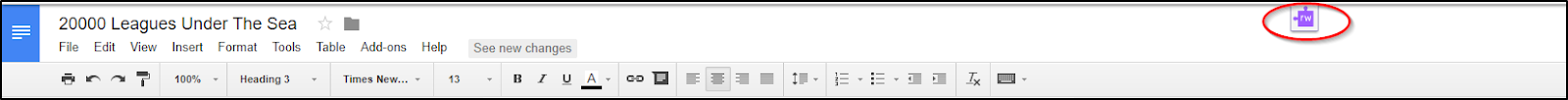 Read&Write for Google Chrome Toolbar Tab Retracted