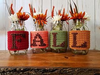 fall jars crochet pattern for thanksgiving