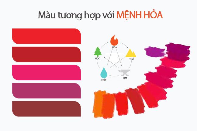 Màu sắc phong thủy mang lại may mắn cho người mệnh hỏa