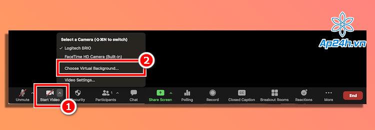 Bạn có thể thay đổi hình nền ảo Zoom ngay trong cuộc họp