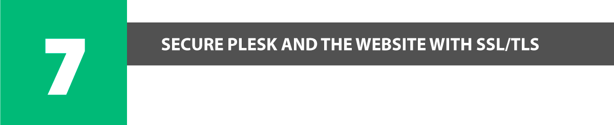 secure plesk and the website