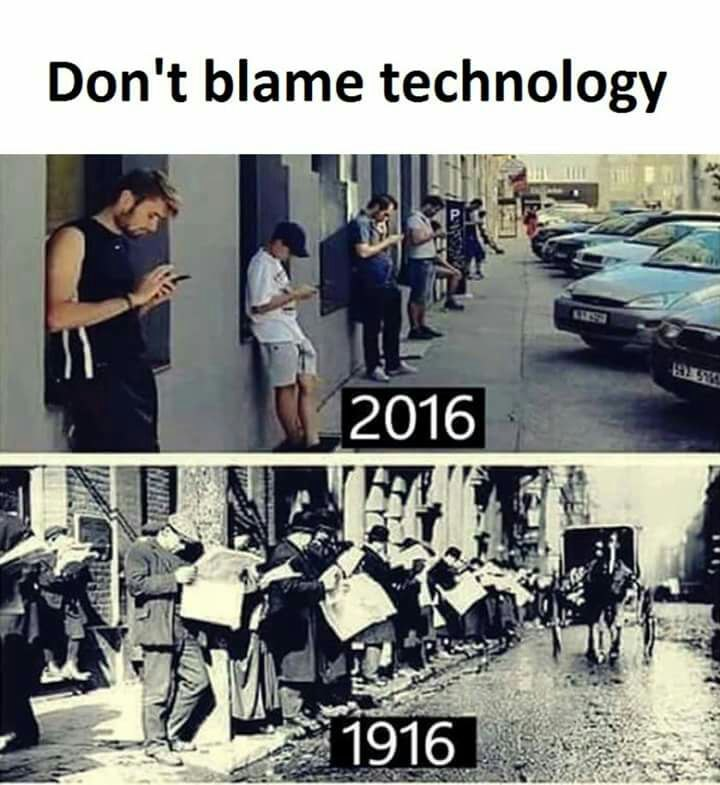 Technology - then and now