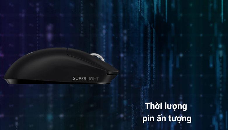 Chuột không dây gaming Logitech G Pro X - Super Light (Đen) | Thời lượng pin ấn tượng