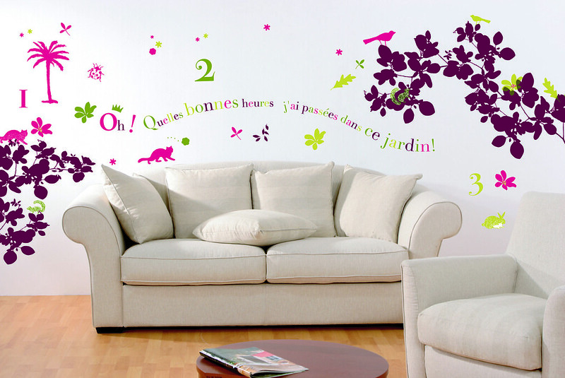 Wall decor decal stickers for home decoations by Simon Mason of Flickr.