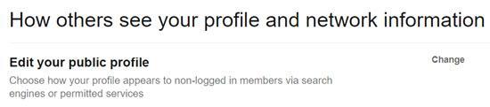 Edit your public profile's visibility