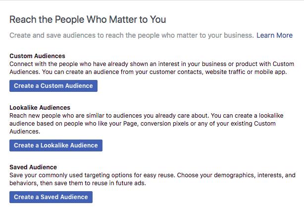 Facebook audience targeting strategies
