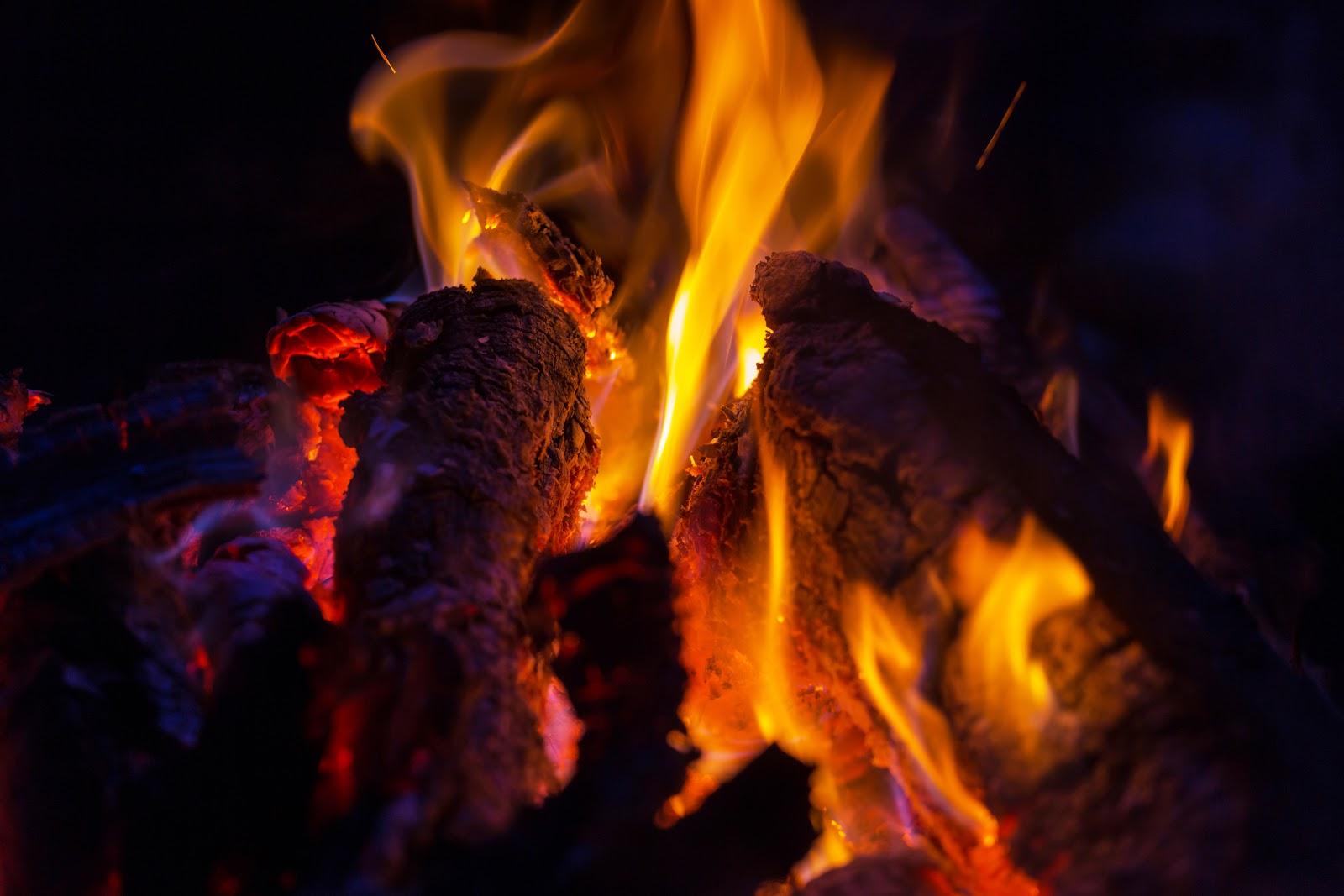 A flaming cascade