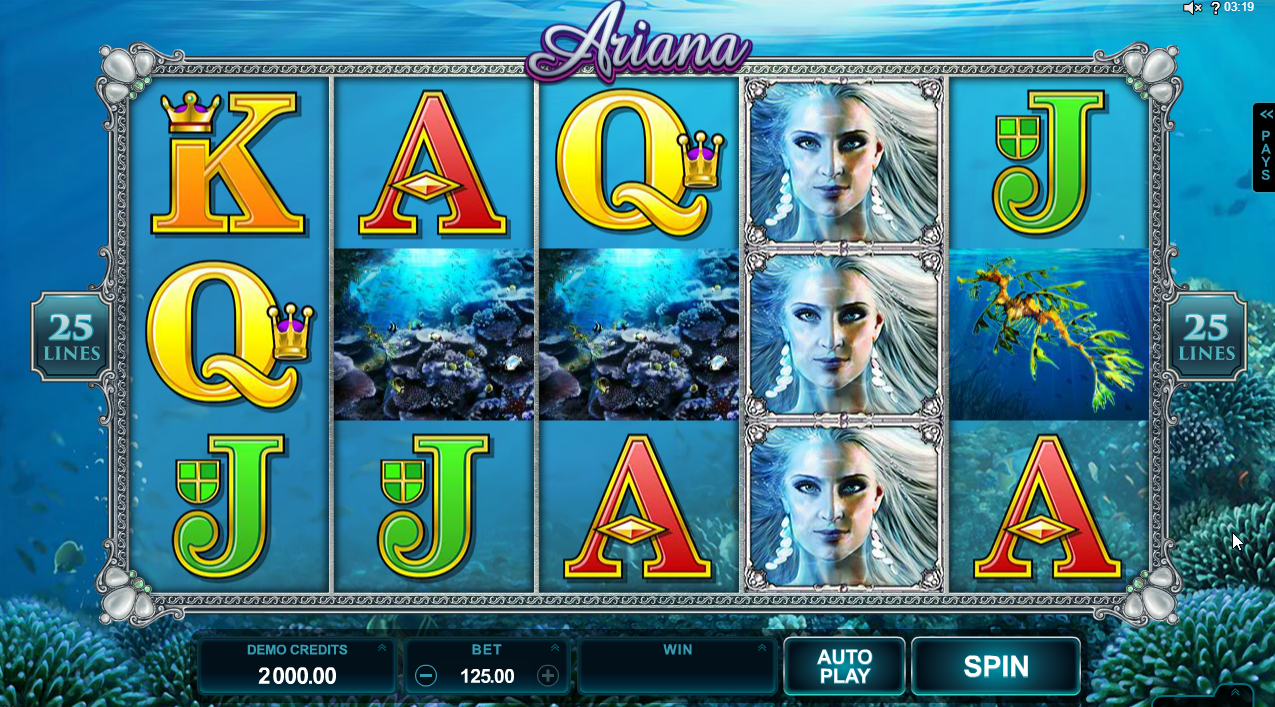 Ariana Slots Machine Review