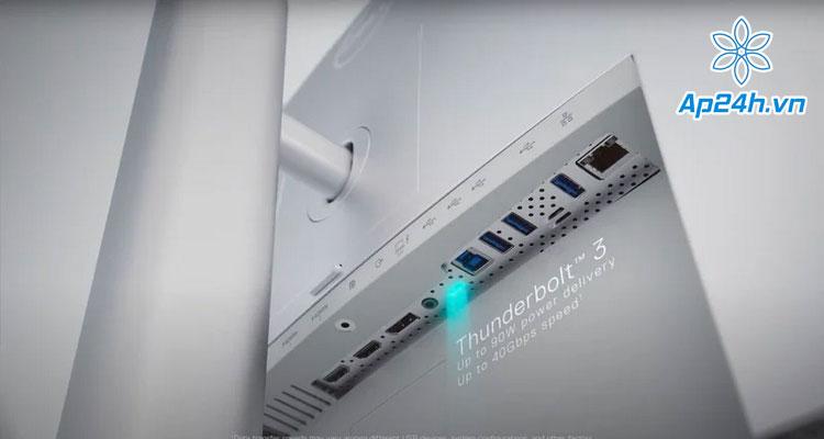 Cổng kết nối Thunderbolt 3 dành cho MacBook, hỗ trợ sạc 90W