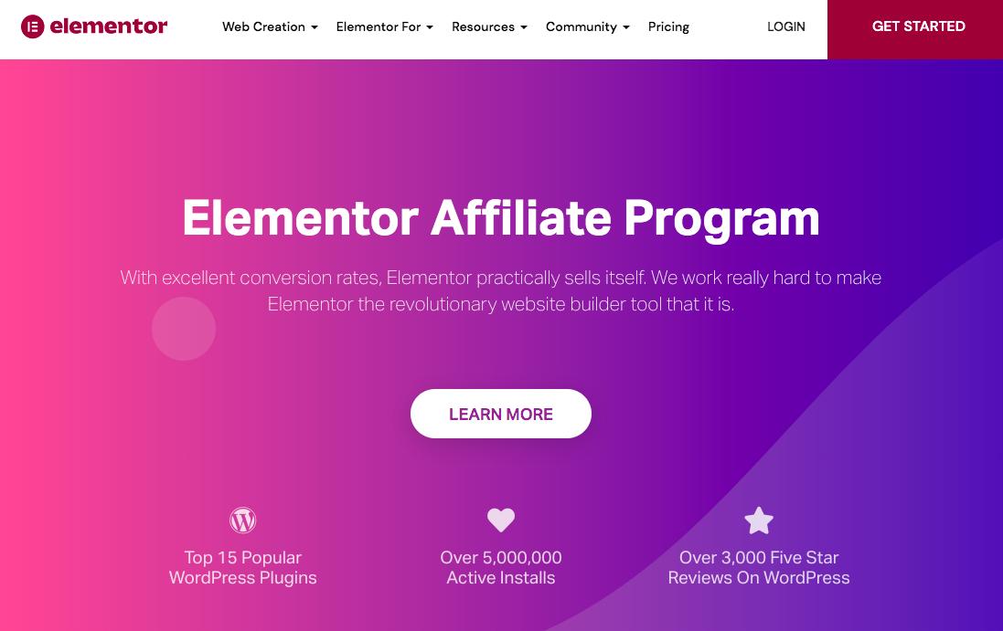 elementor affiliate program