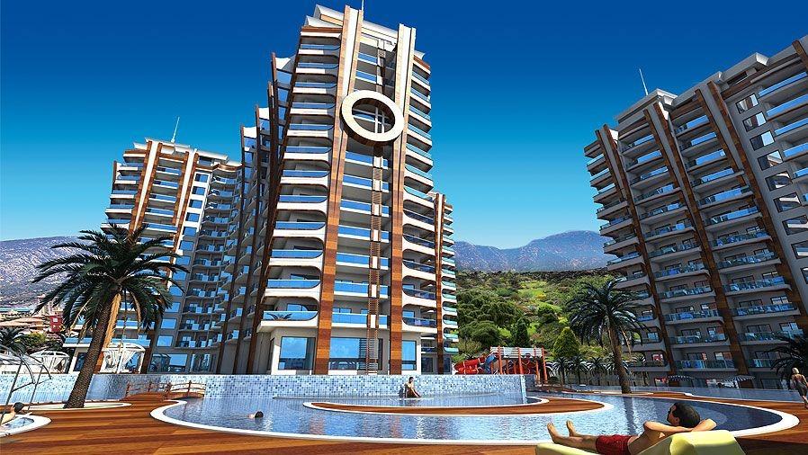 Апартаменты 1+1 в комплексе премиум класса, 71 м2. Махмутлар, Алания.