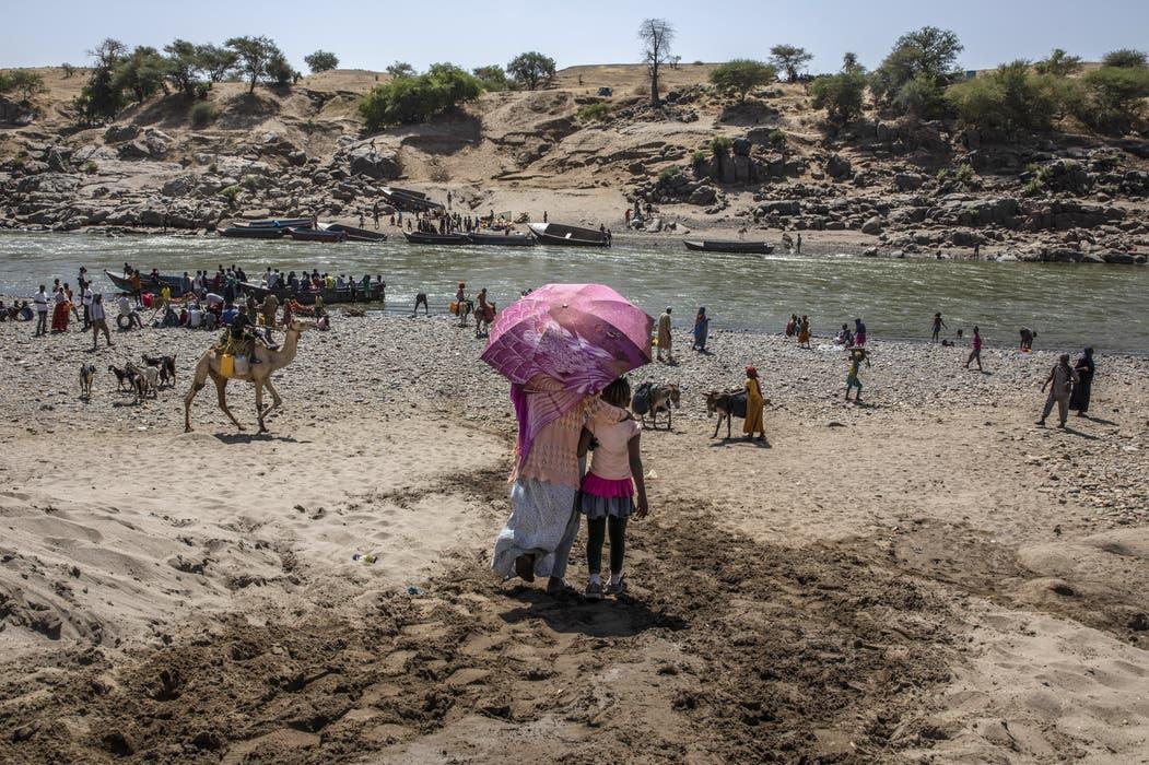 Die Grenze zwischen Äthiopien und Sudan.