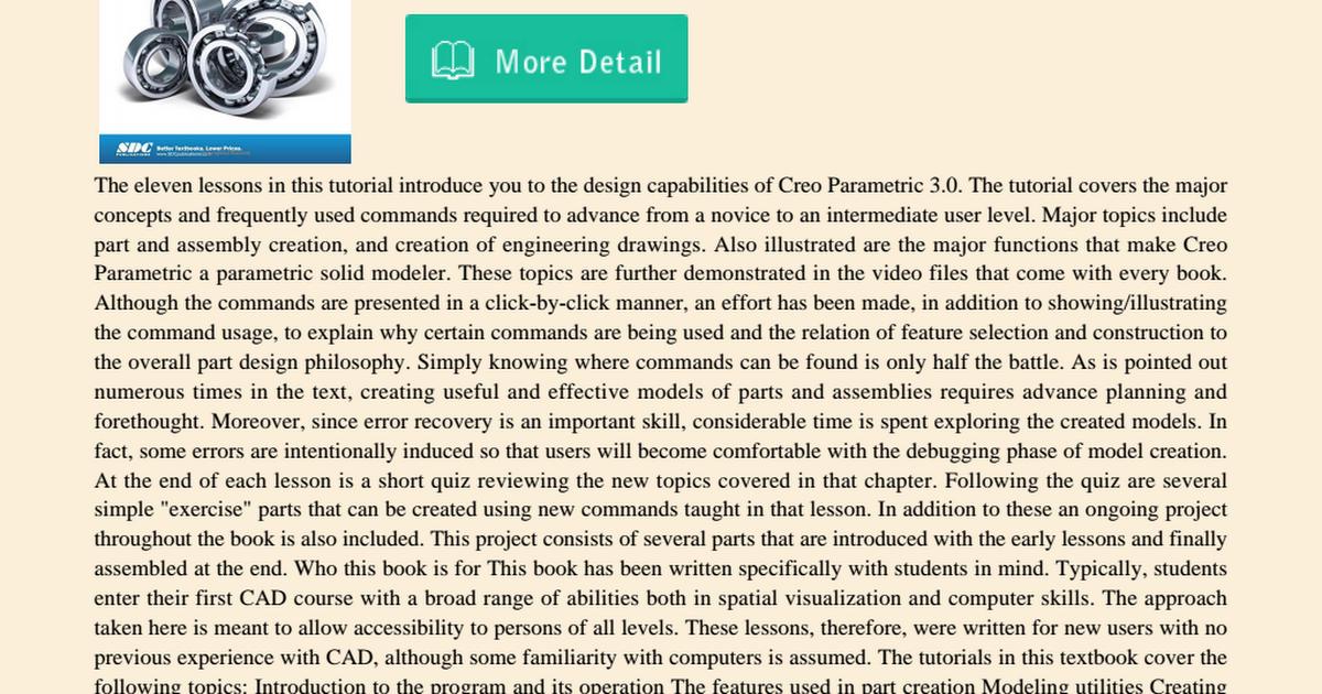 creo parametric 3.0 tutorial pdf free download