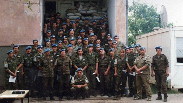 Украинские миротворцы в анклаве Жепа
