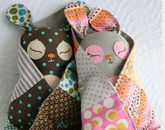 Softy Bunnies in Blankets, on Bluprint