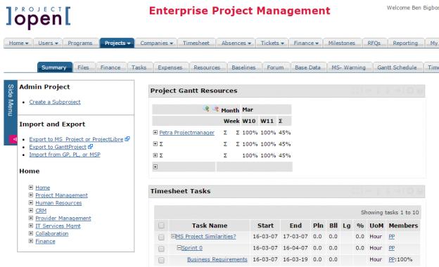 Công cụ quản lý dự án ]project-open[