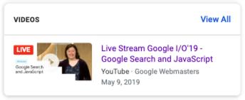 直播標記能讓影片預覽左上角出現「直播(LIVE)」字樣