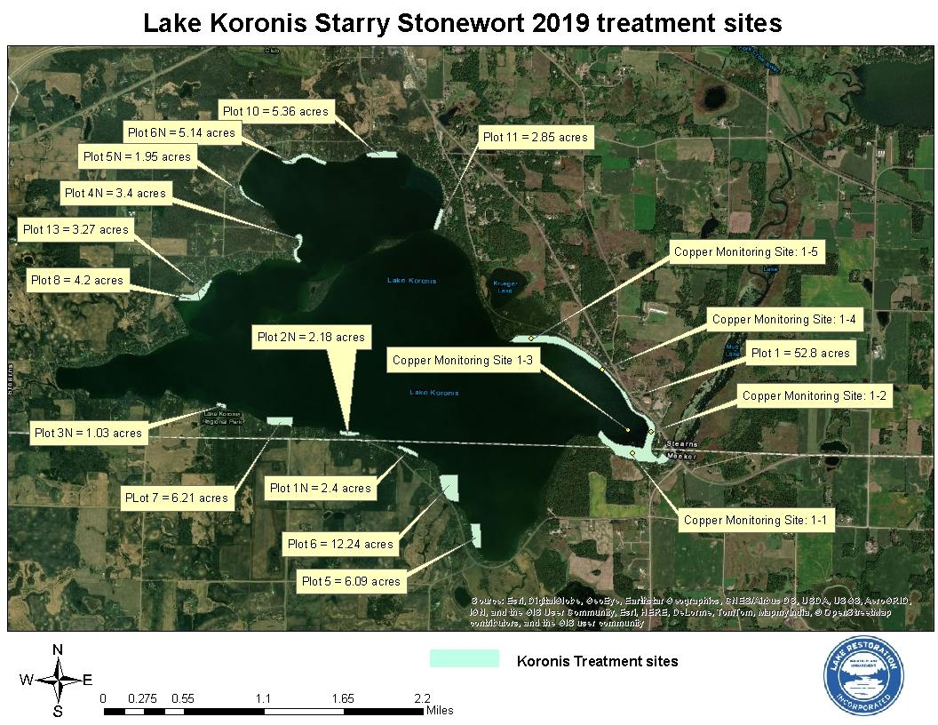 C:\Users\Farnum\AppData\Local\Microsoft\Windows\INetCache\Content.Outlook\N40BV1QD\Koronis Stearns SSW map for August 2019 treatment.jpg