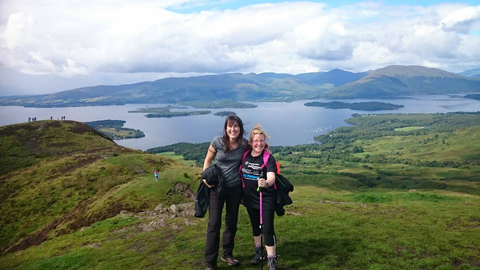 The views at the top of Conic Hill