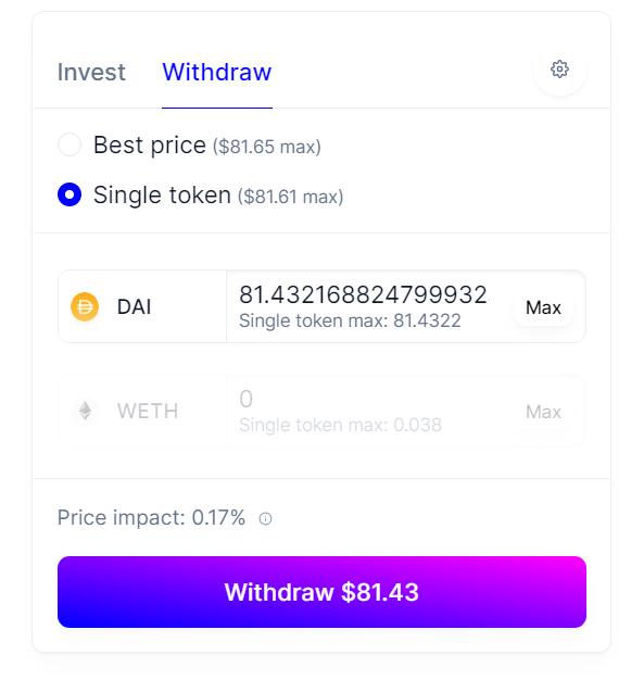 Withdraw liquidity on Balancer 2