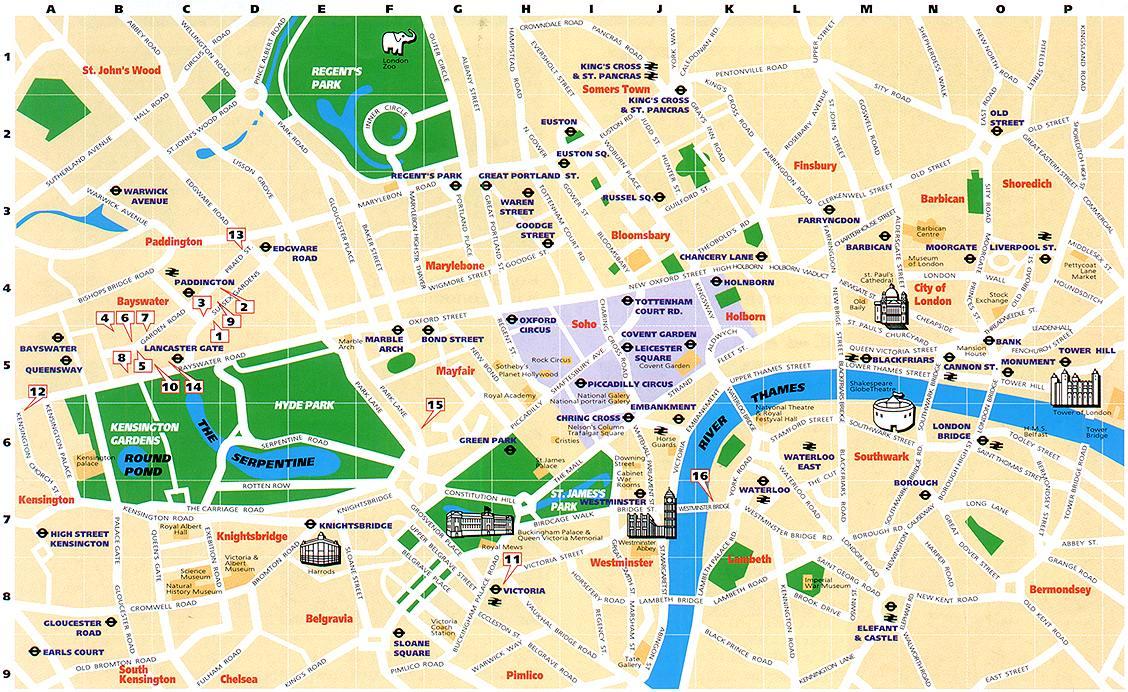 Carte Quartier Londres.Carte Londre Carte