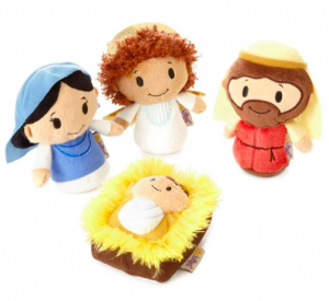 It doesn't get much cuter than this!  Hallmark has created a plush Nativity Set that is safe for your little ones to play with this Christmas!