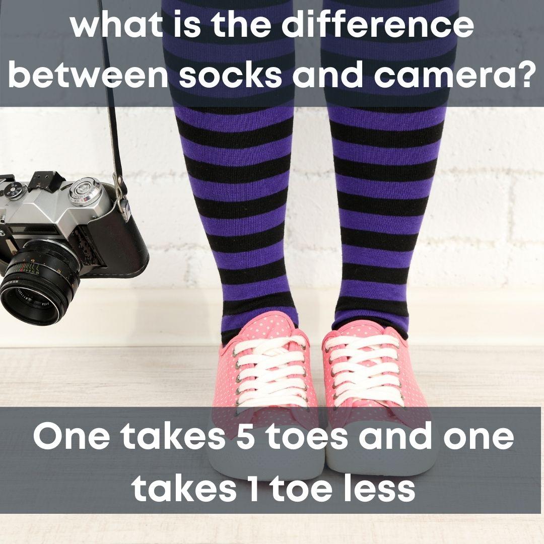 camera lover sock joke