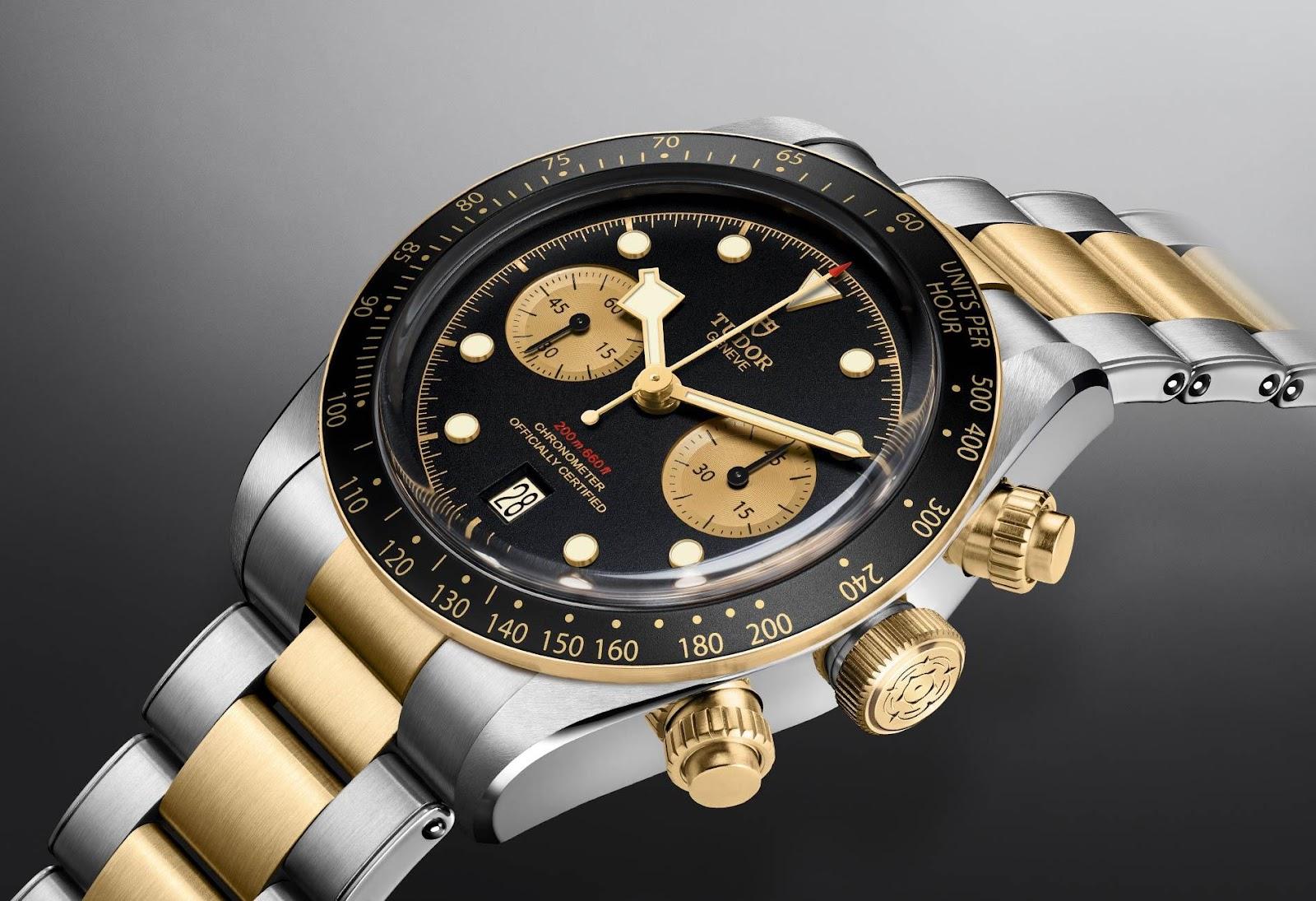 TUDOR Black Bay Chrono S&G Swiss Watch