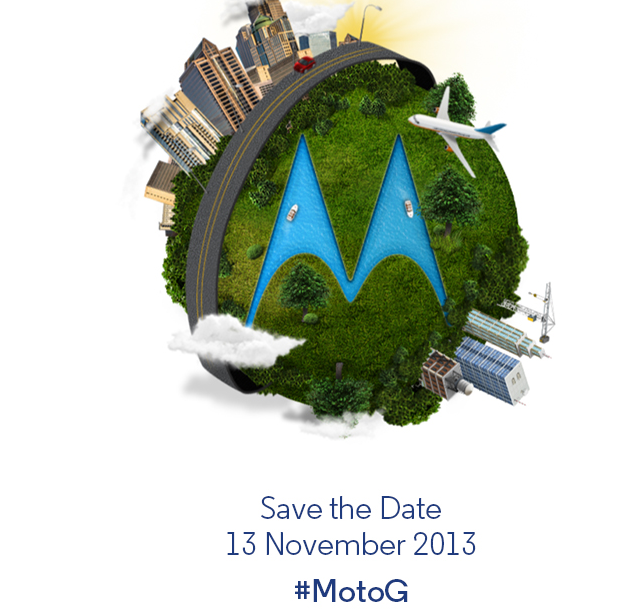 "Moto G ""Save the Date"" Invites Out for November 13"