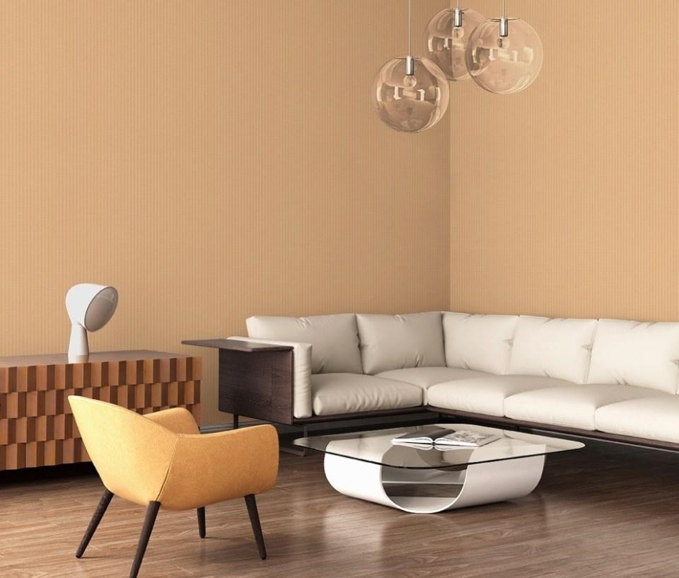 giấy dán tường phòng khách một màu