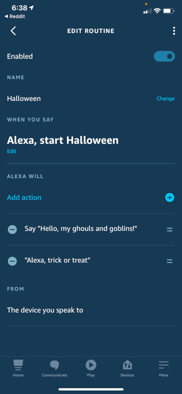 Halloween Routine