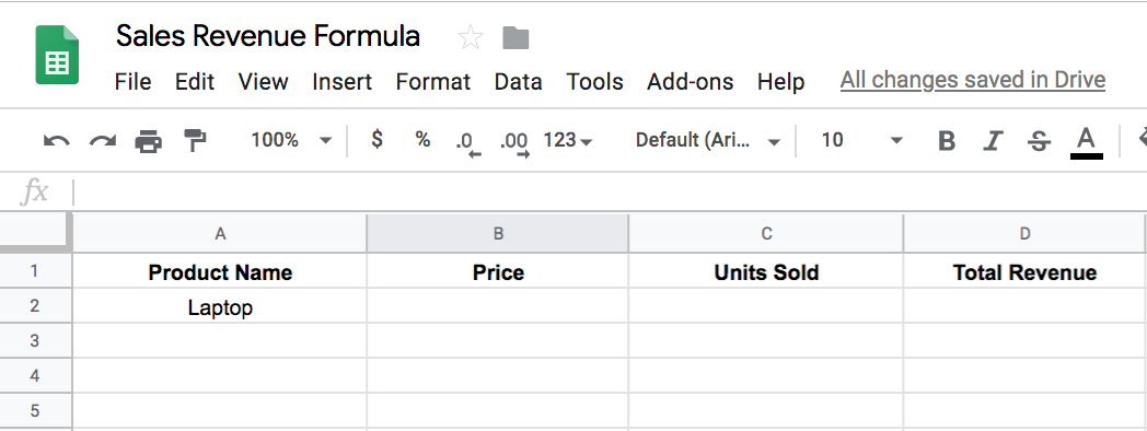 How to Use Google Sheets to Figure Out Sales Revenue Step 1 | The Easiest Way to Figure Out Your Sales Revenue