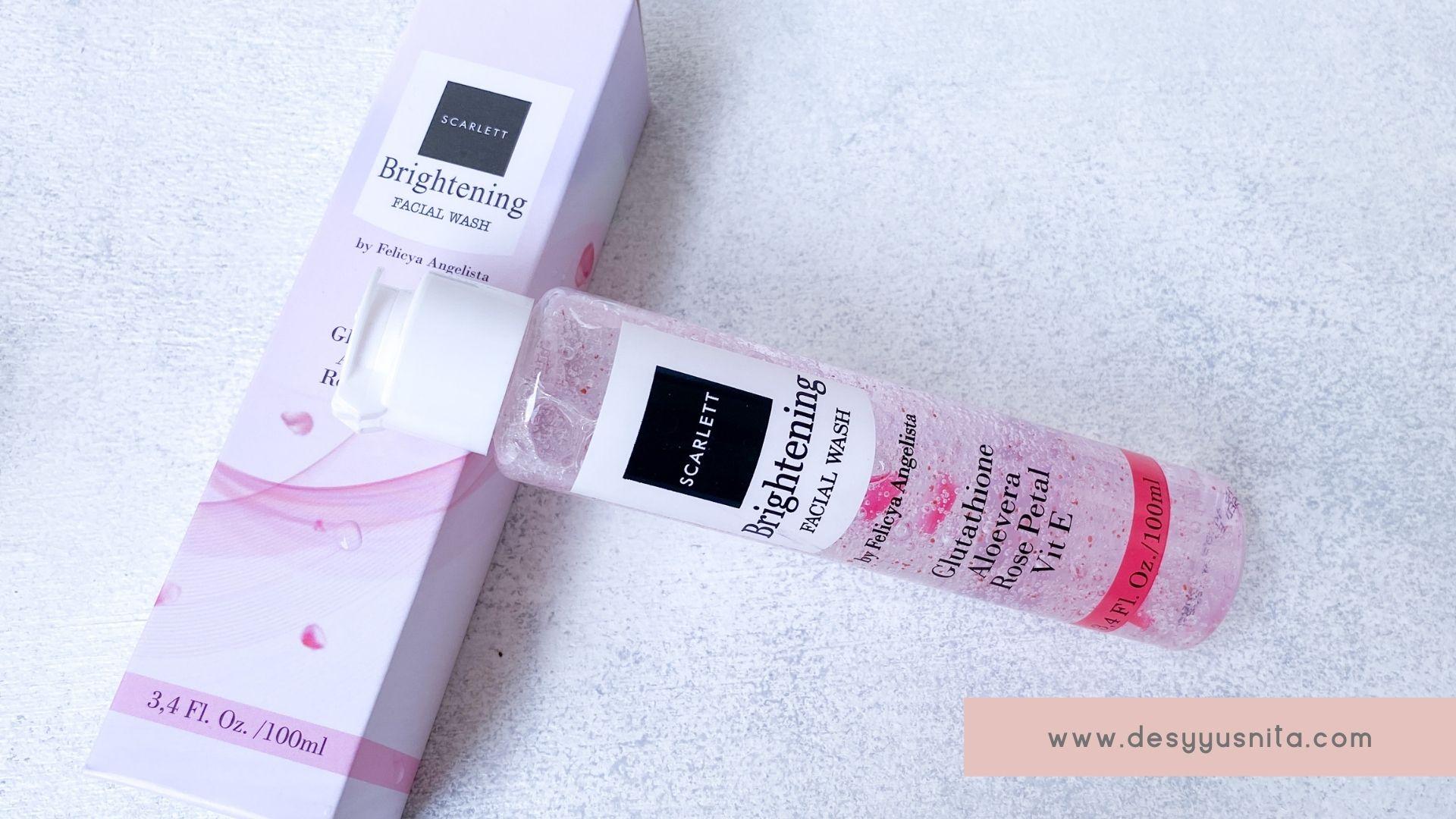 Scarlett Whitening Face Care Brightening Facial Wash