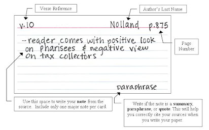 How To Do Notecards For A Research Paper Mla