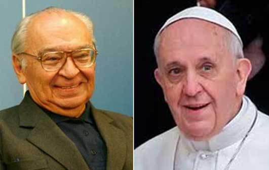 Resultado de imagem para Fotos de Gustavo Gutiérrez com o Papa