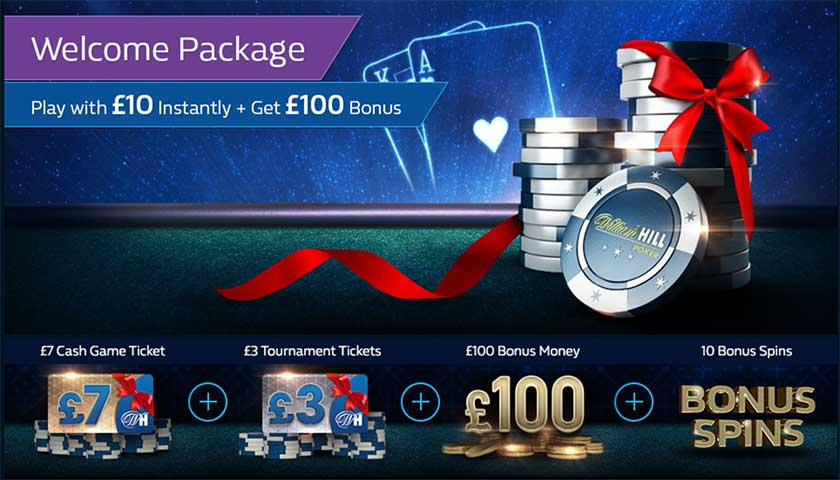 William Hill Poker бонусы