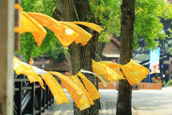 Pinkoi市集-天然薑黃染大方巾