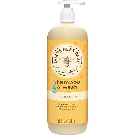 2. Burt's Bees Baby Shampoo & Wash Fragrance Free