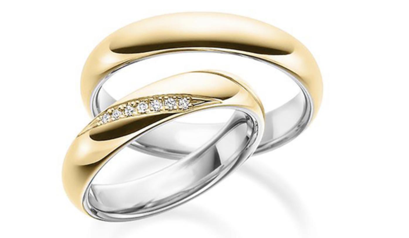 two tone dome diamond set