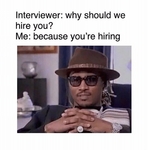 Employee answering hiring questions
