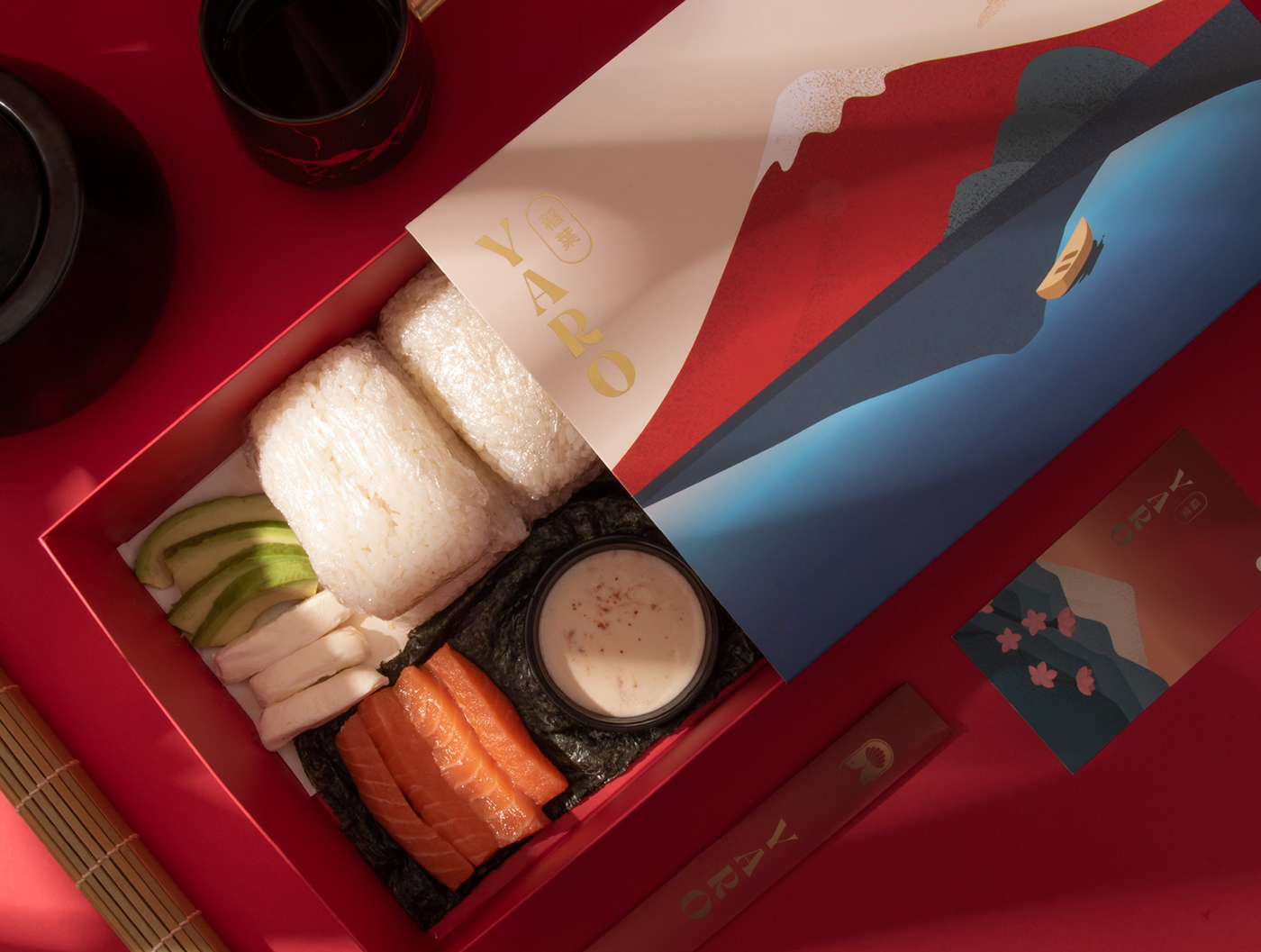 asian box branding  Culinary japan Landscape Packaging packaging design Photography  Sushi